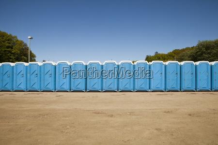 public toilets in a row