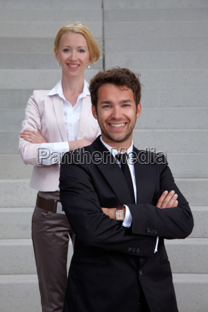 business team man and woman