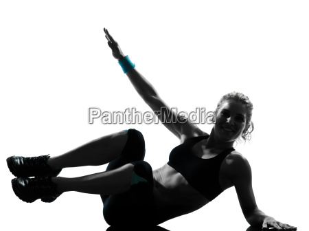 woman workout fitness posture abdominals push