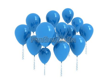 balloons blue balloons isolated on