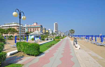 beach of lido di jesolo on