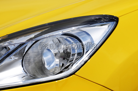yellow car headlight