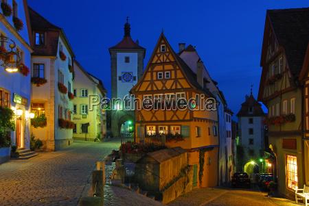 evening ploenlein in rothenburg ob der