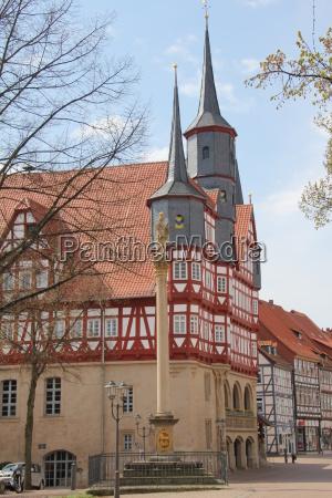 old town hall in duderstadt in