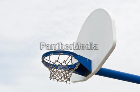 playground basketball hoop and backboard