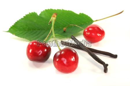 cherries with vanilla