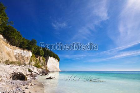 baltic sea coast on ruegen