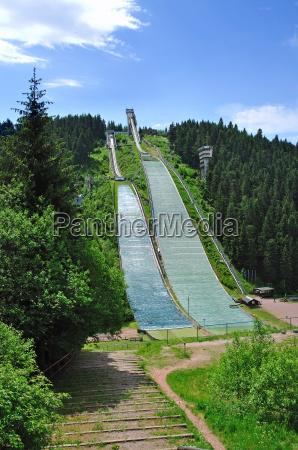 the ski jumping hills of oberhof