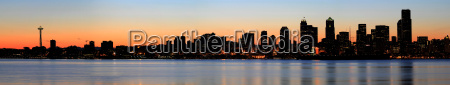 seattle skyline and puget sound at
