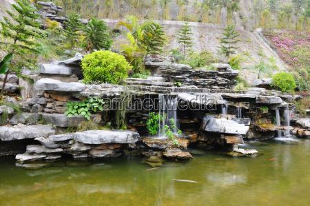chinese rockery garden