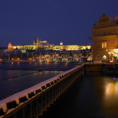 lavka and prague castle with charles