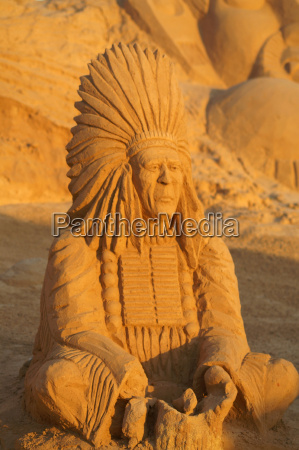 sand sculpture of indian