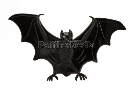 plastic toy bat over white