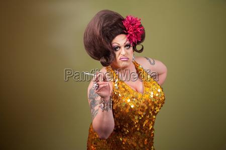 drag queen smoking
