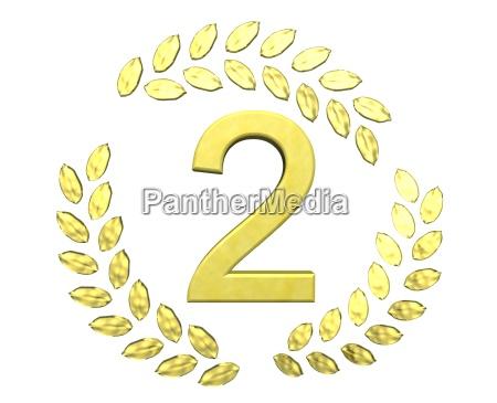 number in the laurel wreath