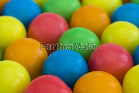 multicolored gumballs