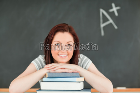 close up of a studious young