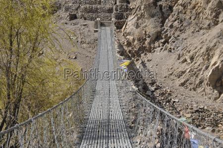 hanging bridge over the kali gandaki