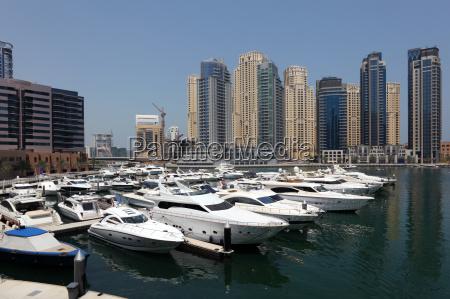 yachts in dubai marina united arab