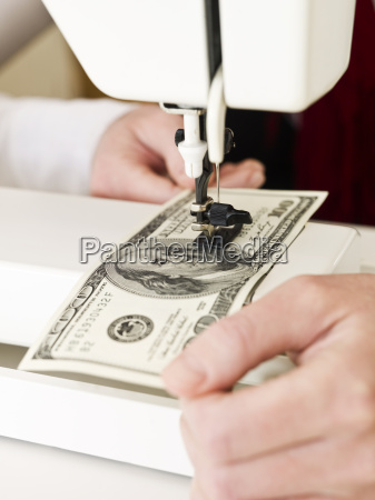 sewing money
