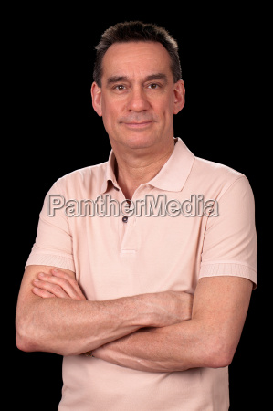 portrait of attractive smiling middle age