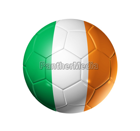 soccer football ball with ireland flag