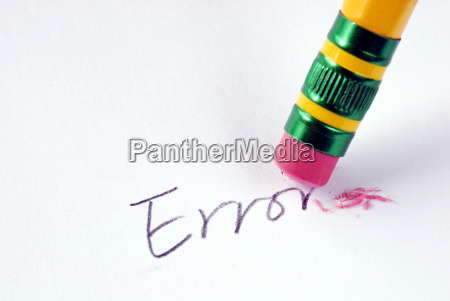 erase the word error with a