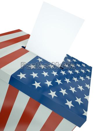 us ballot box 3d render