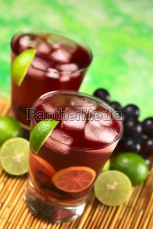 refreshing grape lemonade