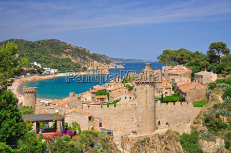 the fortress of tossa de mar