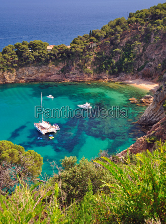 bay on wild romantic coastline of