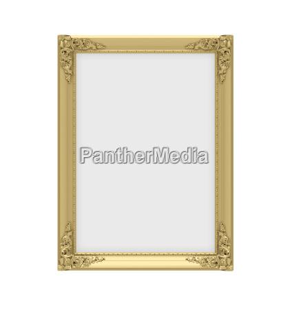 golden frame over white