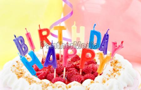 birthday celebration with festive cake
