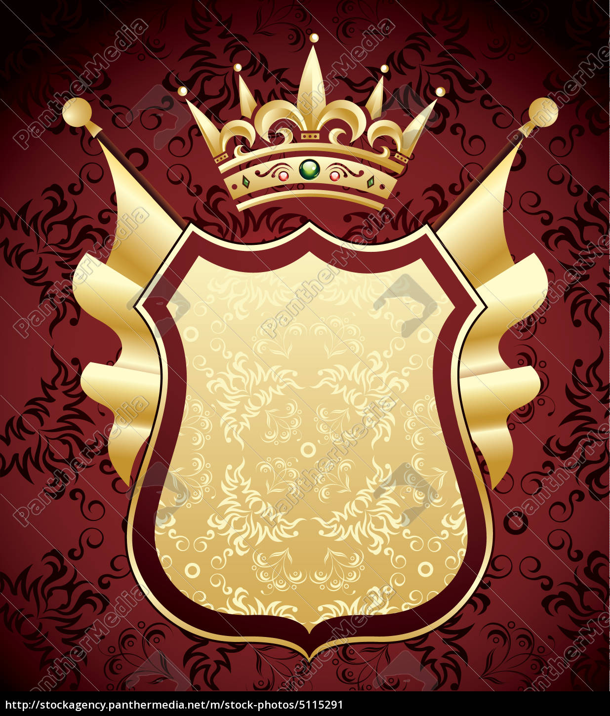 Royalty free image 5115291 - Red and gold coat of arms design