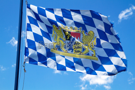 waving bavaria flag