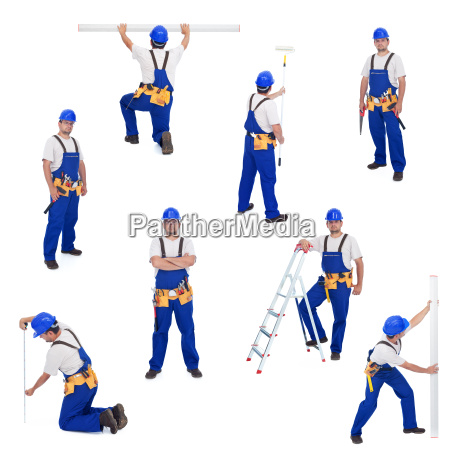 handyman or worker in different working