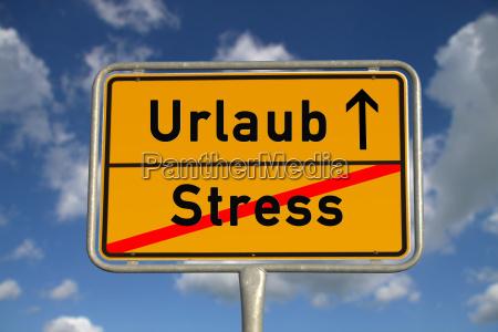 german ortsschild holiday stress