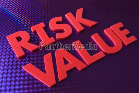 risk value word on blue neon