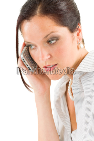 professional businesswoman attractive calling
