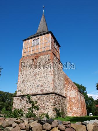 church in sietow mueritzsee