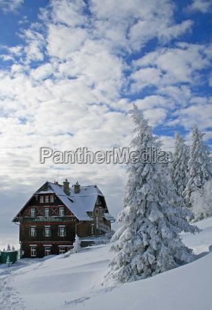 winter in the alps