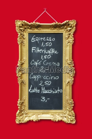 picture frame in gold with ornaments