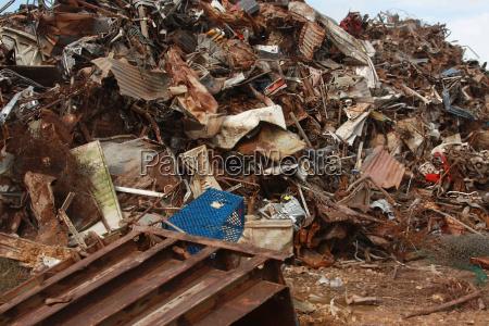 scrap metal recycling junk yard