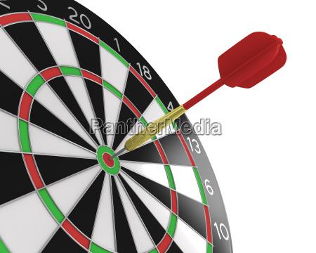 dart stuck in a board diagonal
