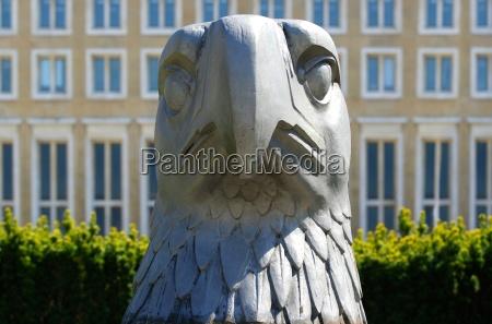 eagle head at tempelhof airport platz
