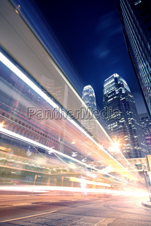 megacity highway at night with light