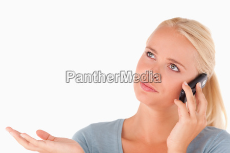 clueless woman on the phone
