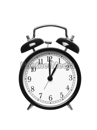 alarm clock shows one oclock