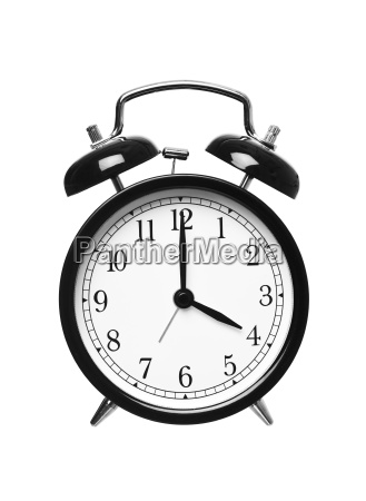 alarm clock shows four oclock