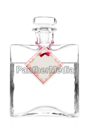 carafe with vodka and empty cotillion
